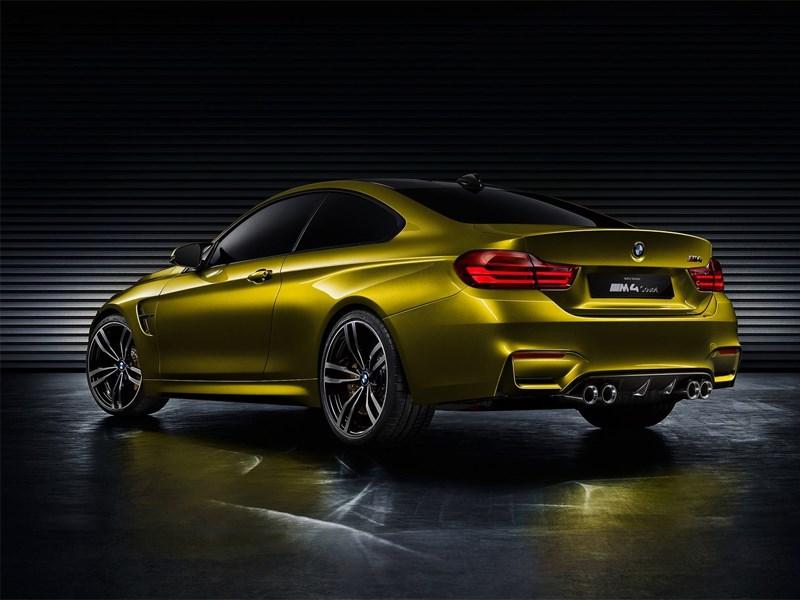 BMW M4 concept 2013 вид сзади 3/4
