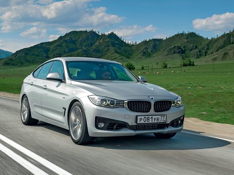 BMW 3 series GT 2013 вид спереди