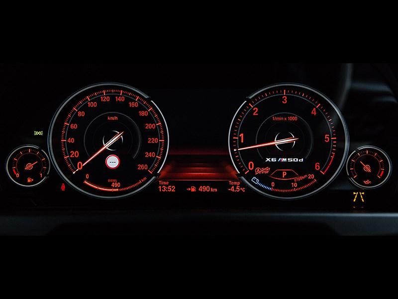 BMW X6 2015 приборная панель