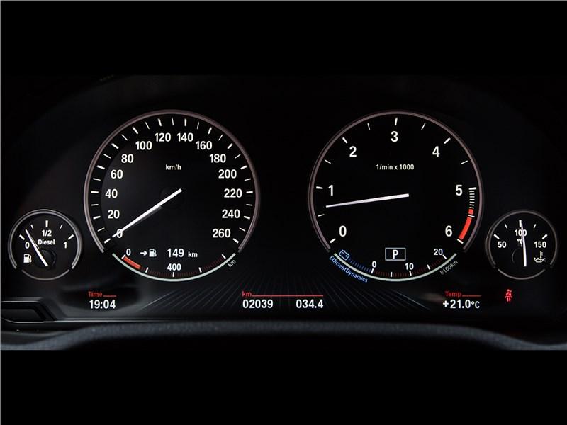 BMW X3 30d 2015 приборная панель