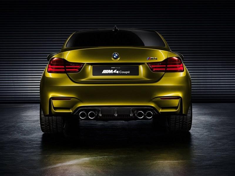 BMW M4 concept 2013 вид сзади