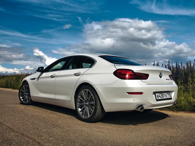 BMW 6 Series Gran Coupe 2012 вид сзади