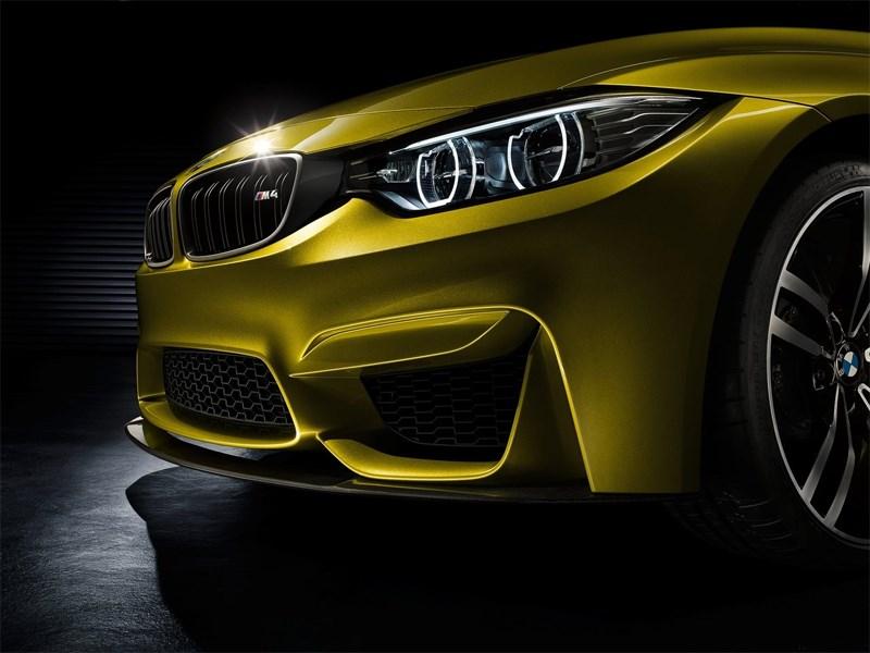 BMW M4 concept 2013 передняя фара, бампер