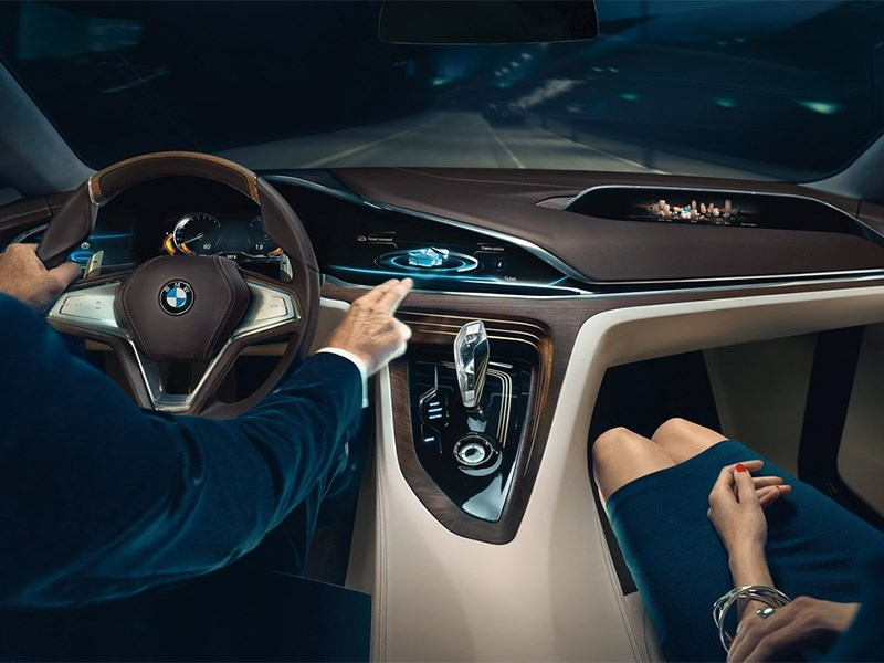 BMW Vision Future Luxury Concept 2014 водитель и пассажир