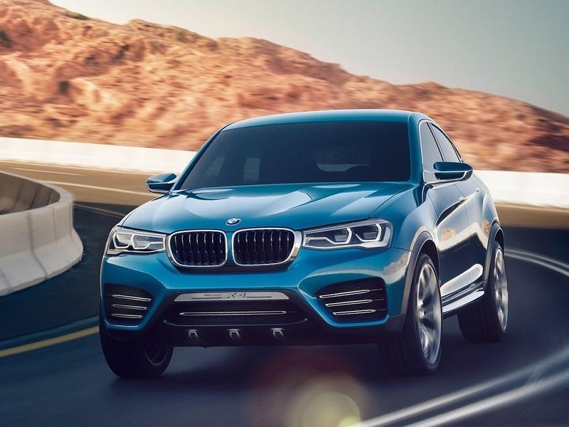 Новый BMW X4 - BMW X4 концепт вид спереди