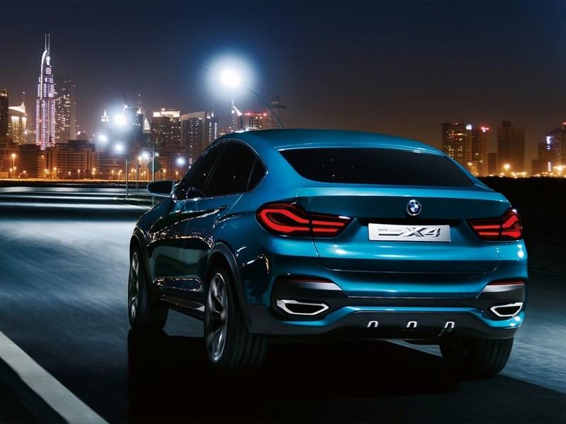 BMW X4 концепт вид сзади
