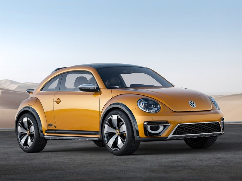 Volkswagen Beetle Dune concept 2014 вид спереди фото 3
