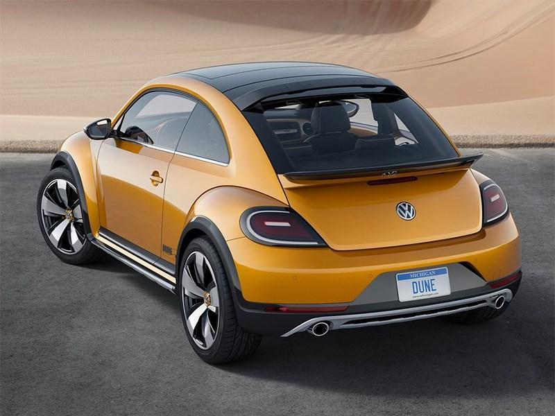Volkswagen Beetle Dune concept 2014 вид сзади фото 2