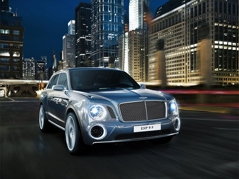 Новый Bentley EXP 9 F - Bentley EXP 9 F Concept 2012 вид спереди
