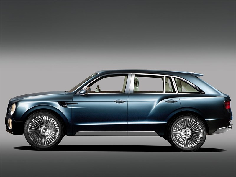 Bentley EXP 9 F Concept 2012 вид сбоку