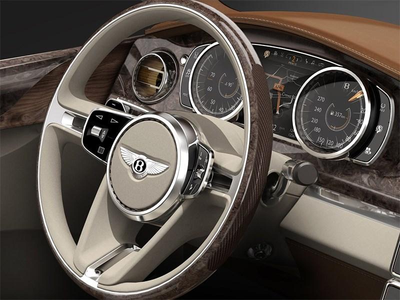 Bentley EXP 9 F Concept 2012 водительское место