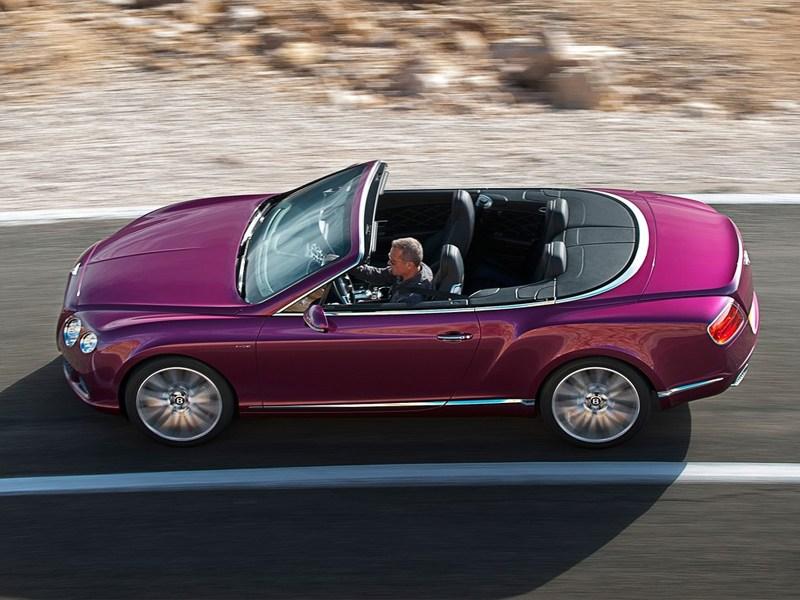 Bentley Continental GT Speed Convertible 2014 вид сбоку