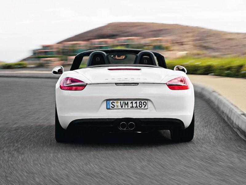 Porsche Boxster S 2012 вид сзади