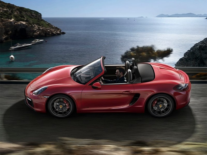 Porsche Boxster GTS 2014 вид сбоку
