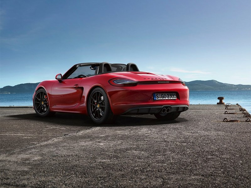 Porsche Boxster GTS 2014 вид сзади