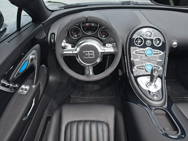 Bugatti Veyron Grand Sport Vitesse 2012 водительское место