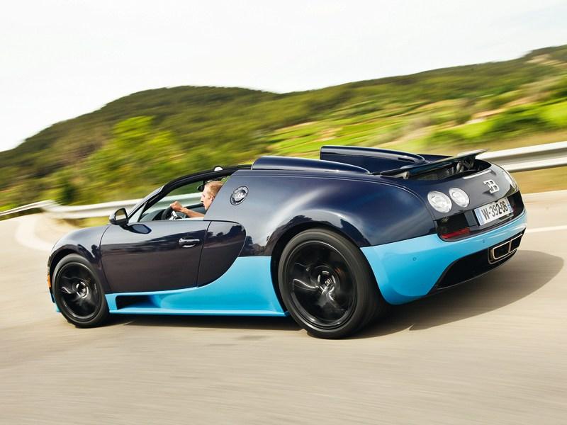 Bugatti Veyron Grand Sport Vitesse 2012 вид сзади