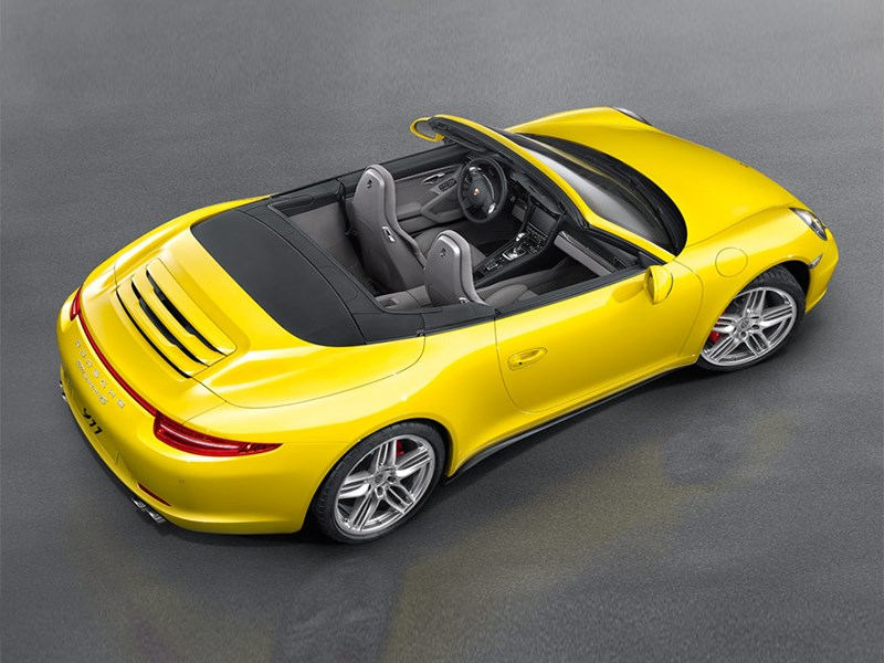 Porsche 911 Carrera 4S Cabriolet 2011 вид сверху
