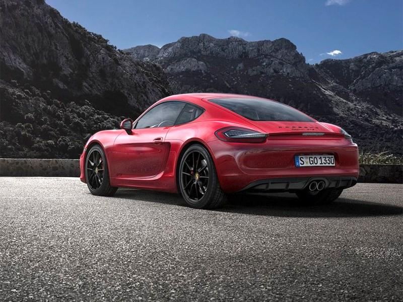 Porsche Cayman GTS 2014 вид сбоку сзади