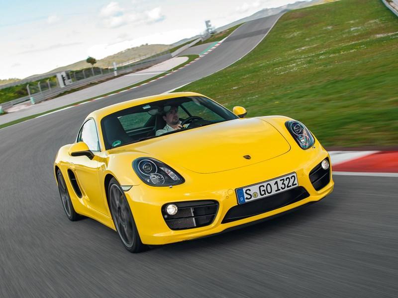 Porsche Cayman 2013 вид спереди