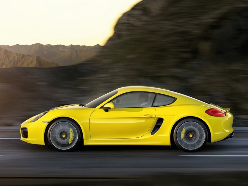 Porsche Cayman 2013 вид сбоку