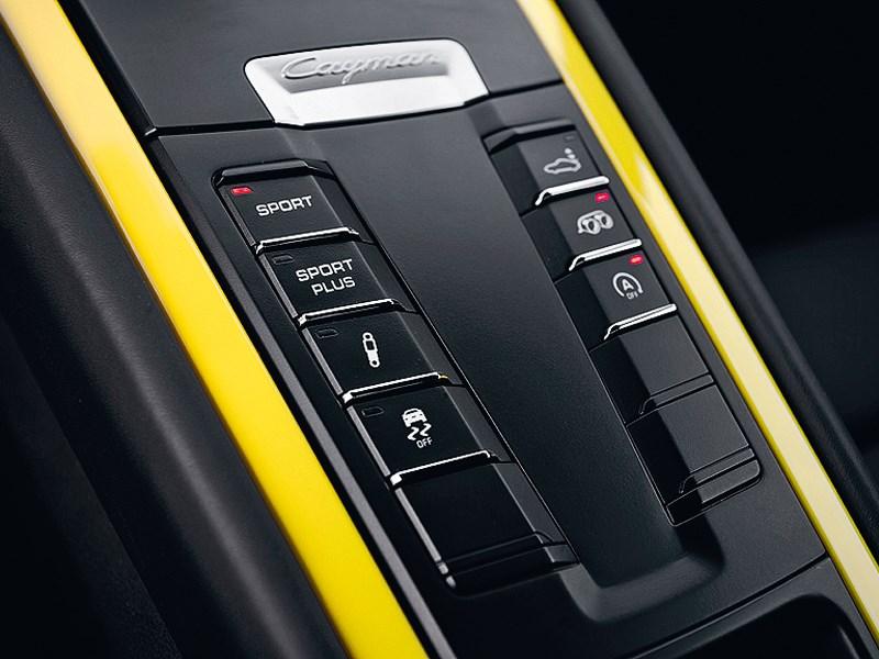 Porsche Cayman 2013 кнопки управления режимами