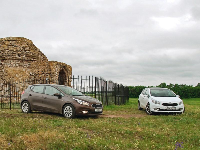 Kia cee'd 2012 в пробеге по Южному Уралу у могильника в степи 2