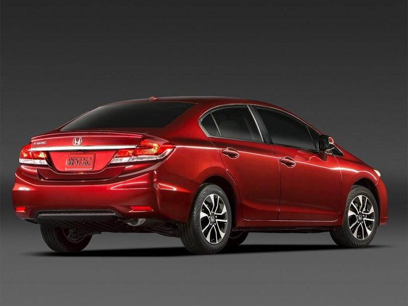 Honda Civic 2013 вид сзади