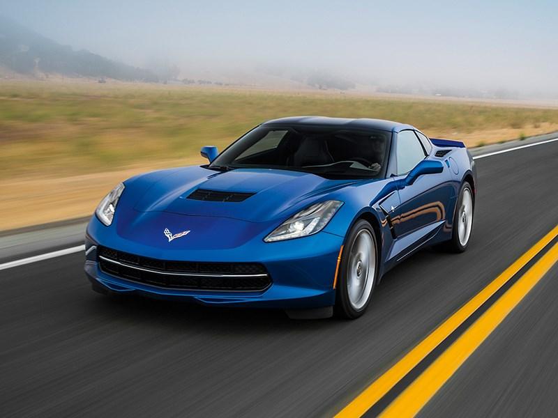 Chevrolet Corvette Stingray C7 2013 синий вид спереди