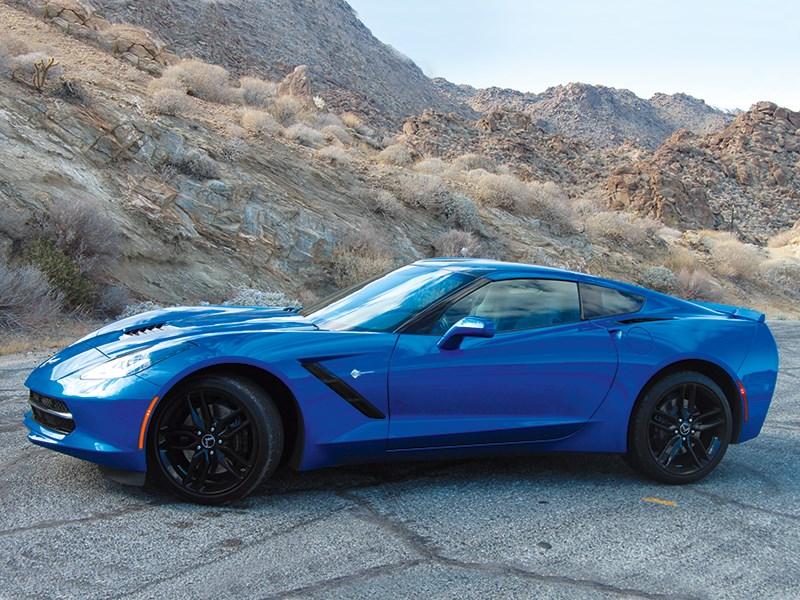 Chevrolet Corvette Stingray C7 2013 синий вид сбоку