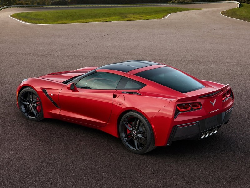 Chevrolet Corvette Stingray C7 2013 вид сзади