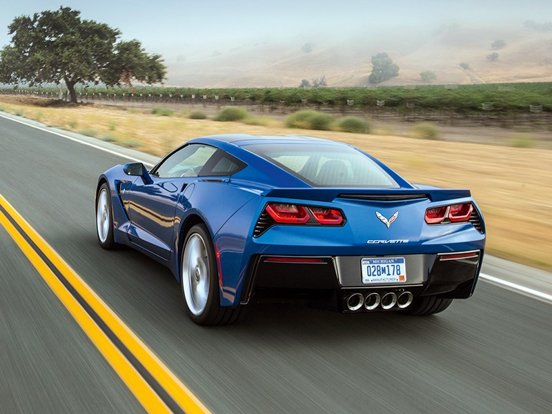 Chevrolet Corvette Stingray C7 2013 синий вид сзади