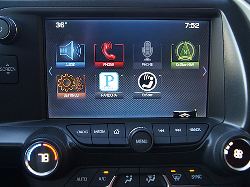 Chevrolet Corvette Stingray C7 2013 монитор компьютера