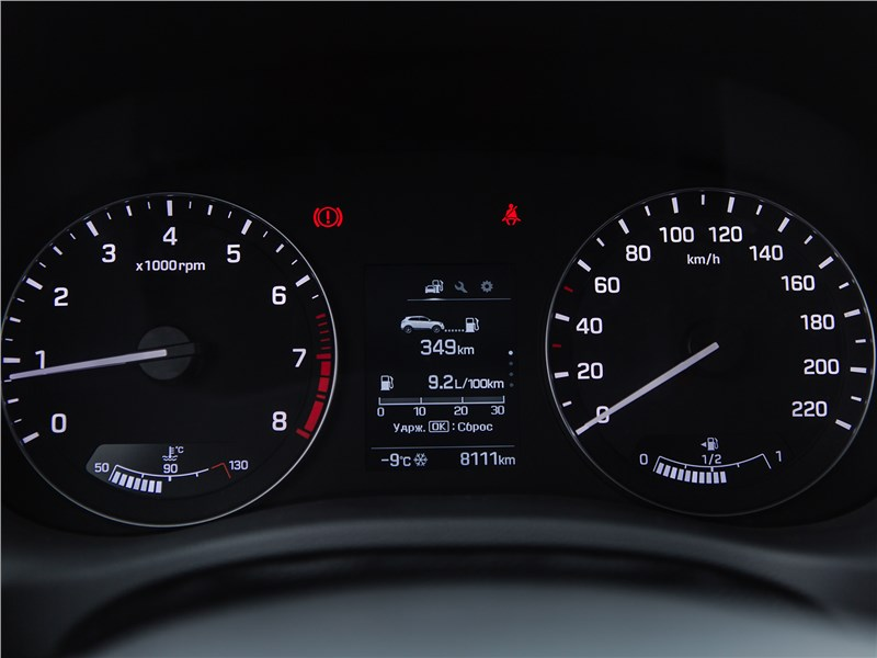Hyundai Creta 2016 приборная панель