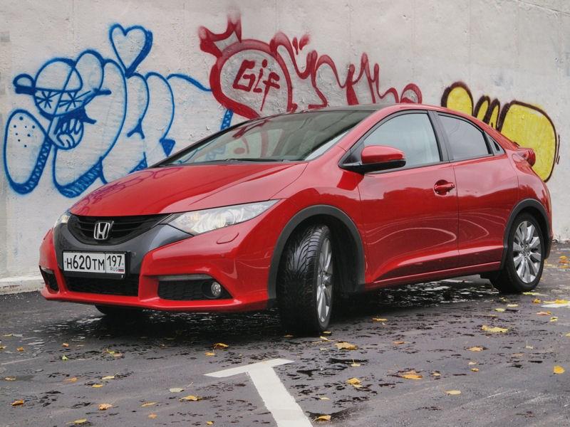 Honda Civic 2012 вид спереди слева