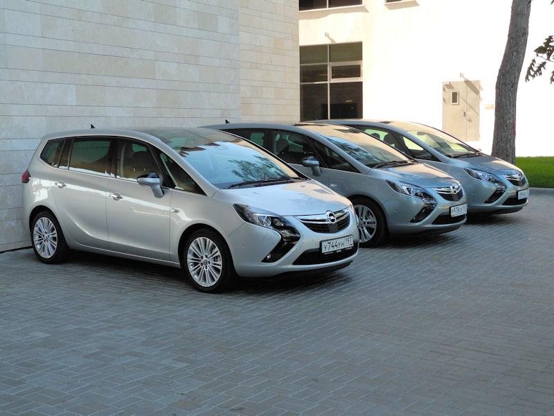 Opel Zafira Tourer 2012 групповое фото