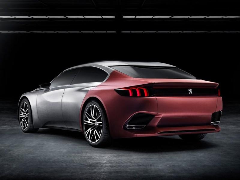 Peugeot Exalt concept 2014 вид сбоку сзади