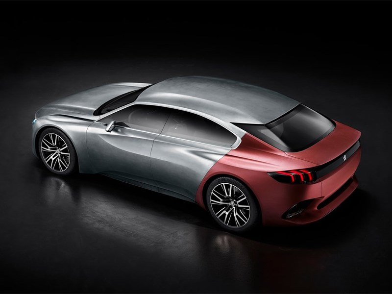 Peugeot Exalt concept 2014 вид сверху
