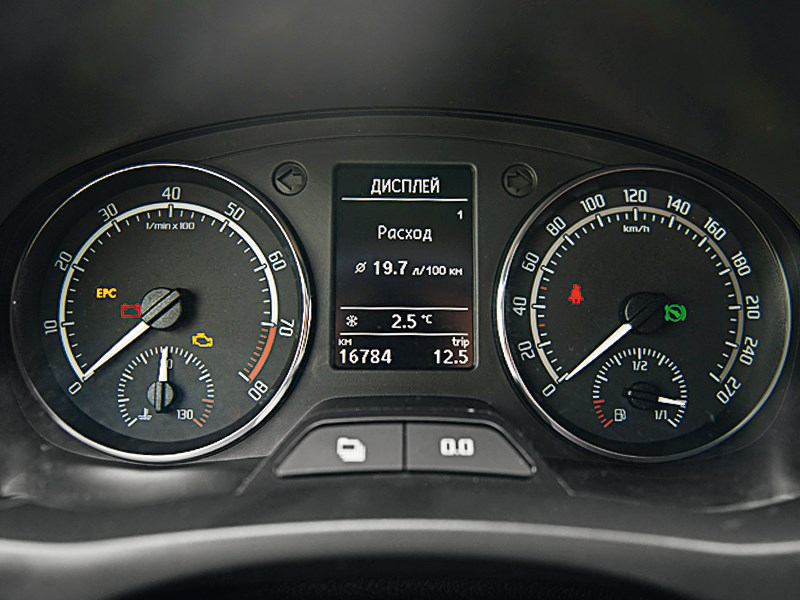 Skoda Fabia RS 2011 приборная панель