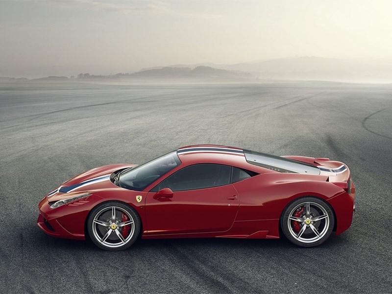 Ferrari 458 Speciale 2014 вид сбоку