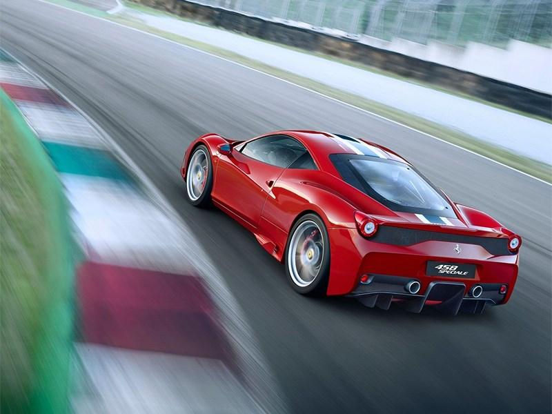 Ferrari 458 Speciale 2014 вид сзади