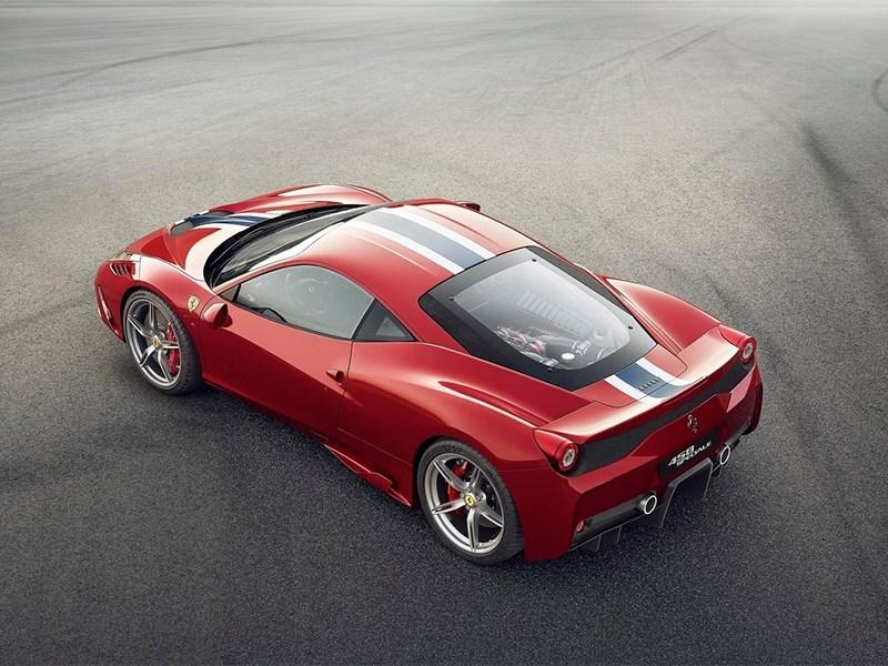 Ferrari 458 Speciale 2014 вид сверху