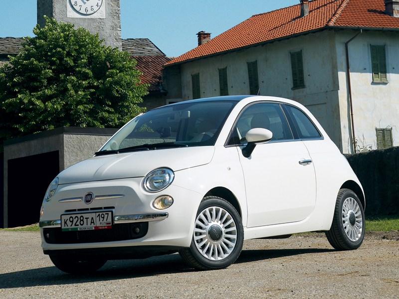 Fiat 500 2011 вид спереди