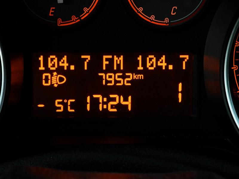 Fiat Punto 2012 индикация