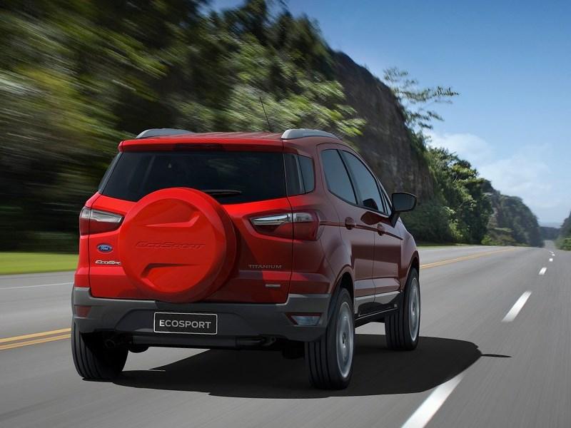 Ford EcoSport 2013 вид сзади