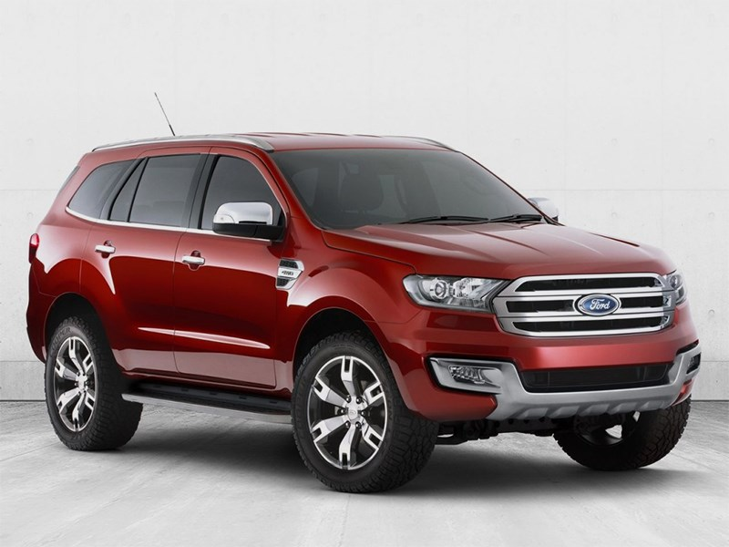 Новый Ford Everest - Ford Everest concept 2013 вид спереди