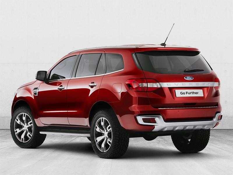 Ford Everest concept 2013 вид сзади