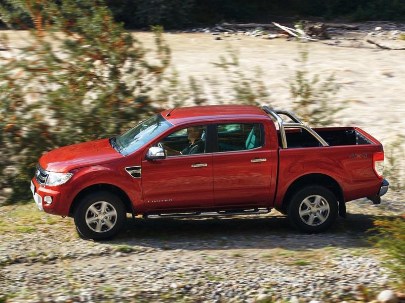 Ford Ranger 2012 вид сбоку
