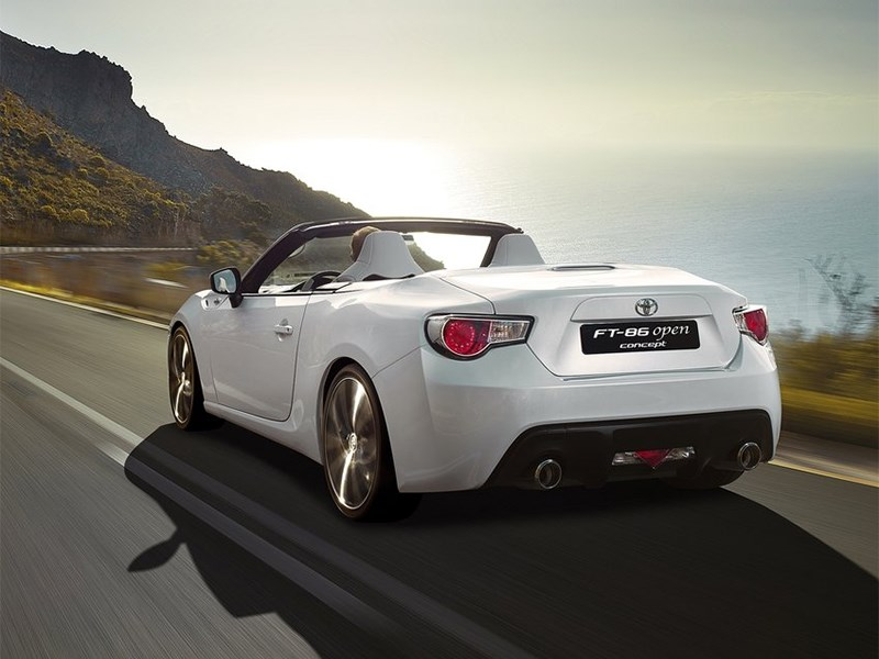 Toyota FT86 Open concept 2013 вид сзади