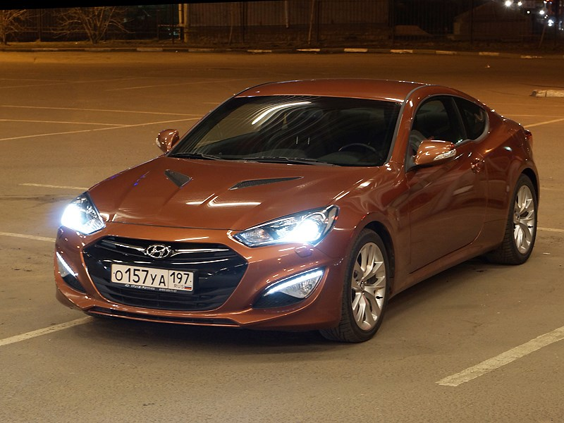 Hyundai Genesis Coupe 2012 вид спереди